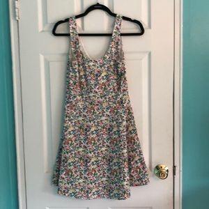 H&M White Floral Tank Top Dress Size 10